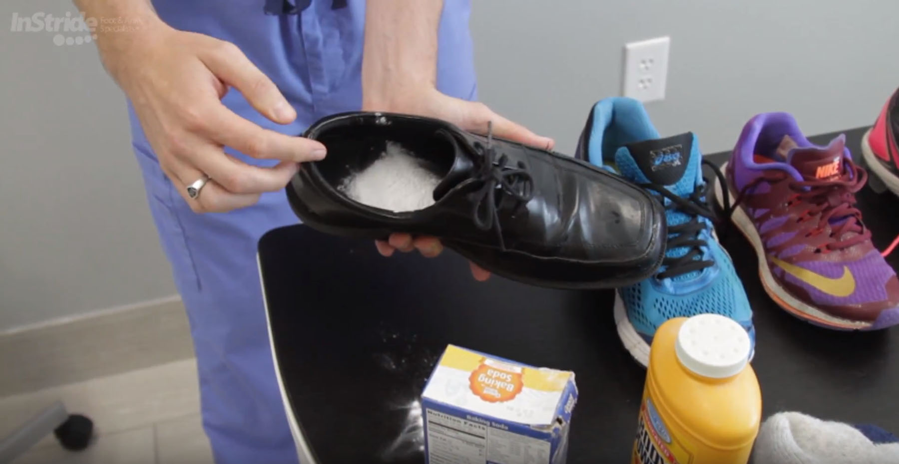 This Works Best On Shoes That Are Cloth Or Mesh In The Morning Bang Baking Soda Out Of Your Same Method Can Be With Foot Baby